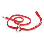 View Image 1 of Windsor Check Nouveau Bow Dog Leash by Susan Lanci - Red