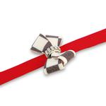 View Image 2 of Windsor Check Nouveau Bow Dog Leash by Susan Lanci - Red