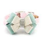 View Image 1 of Hope Bow Luxury Dog Collar by Susan Lanci - Puppy Pink