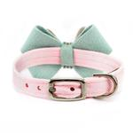 View Image 2 of Hope Bow Luxury Dog Collar by Susan Lanci - Puppy Pink