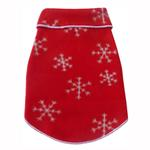 View Image 1 of Winter Snowflakes Dog Pullover - Red