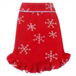 View Image 1 of Winter Snowflakes Pullover Dog Dress - Red