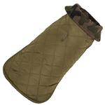 View Image 2 of Camo Quilted Reversible Dog Coat by Up Country