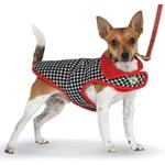 View Image 2 of Houndstooth Fleece-Lined Dog Coat by Up Country