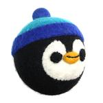 View Image 1 of Wooly Wonkz Christmas Ball Dog Toy - Penguin