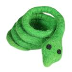 View Image 1 of Wooly Wonkz Safari Cat Toy - Green Snake