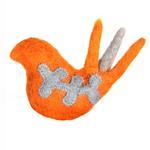 View Image 1 of Wooly Wonkz Woodland Cat Toy - Orange Bird