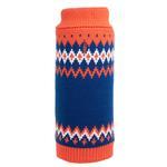 View Image 1 of Worthy Dog Fairisle Dog Sweater - Orange
