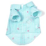 View Image 2 of Worthy Dog Gingham Flamingos Dog Shirt