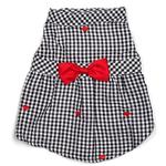 View Image 1 of Worthy Dog Gingham Hearts Dog Dress
