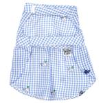 View Image 2 of Worthy Dog Gingham Whales Dog Shirt