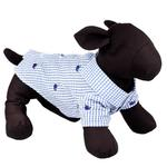 View Image 3 of Worthy Dog Gingham Whales Dog Shirt