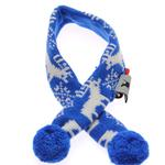 View Image 1 of Worthy Dog Holiday Ski Dog Scarf - Reindeer Blue