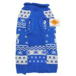 View Image 2 of Worthy Dog Holiday Ski Dog Sweater - Reindeer Blue