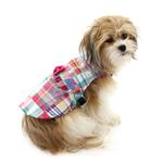 View Image 1 of Worthy Dog Madras Bright Dog Dress