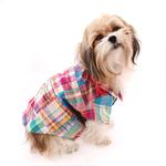 View Image 2 of Worthy Dog Madras Bright Dog Shirt