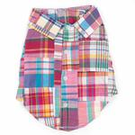 View Image 1 of Worthy Dog Madras Bright Dog Shirt