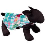 View Image 3 of Worthy Dog Turquoise Madras Patch Dog Dress