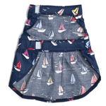 View Image 2 of Worthy Dog Navy Sailboats Dog Dress