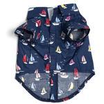 View Image 2 of Worthy Dog Navy Sailboats Dog Shirt