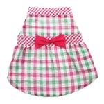 View Image 1 of Worthy Dog Pink Checkered Dog Dress