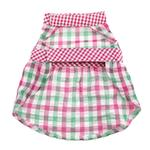 View Image 2 of Worthy Dog Pink Checkered Dog Dress