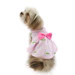 View Image 3 of Worthy Dog Pink Stripe Alligator Dog Dress