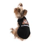 View Image 2 of Worthy Dog Poofessional Dog T-Shirt - Black