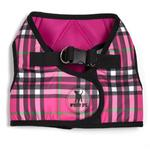 View Image 1 of Worthy Dog Sidekick Plaid Printed Dog Harness - Hot Pink