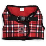 View Image 1 of Worthy Dog Sidekick Plaid Printed Dog Harness - Red