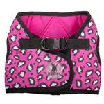 View Image 1 of Worthy Dog Sidekick Pink Cheetah Printed Dog Harness
