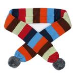 View Image 1 of Worthy Dog Dapper Striped Dog Scarf - Gray