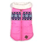 View Image 1 of Worthy Dog Aspen Puffer Dog Jacket - Pink