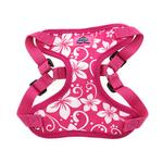 View Image 3 of Wrap and Snap Choke Free Dog Harness by Doggie Design - Pink Hibiscus