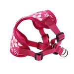 View Image 4 of Wrap and Snap Choke Free Dog Harness by Doggie Design - Pink Hibiscus