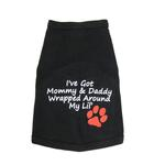 View Image 1 of Wrapped Around My Lil' Paw Dog Tank Top - Black