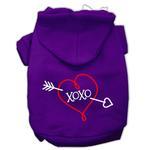 View Image 1 of XOXO Dog Hoodie - Purple