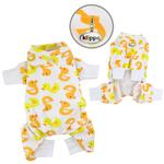 View Image 1 of Yellow Ducky Knit Cotton Dog Pajamas by Klippo