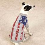 View Image 3 of Zack & Zoey America's Pup Flag Print Dog T-Shirt
