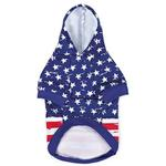 View Image 2 of Zack and Zoey Distressed-Look American Flag Dog Hoodie