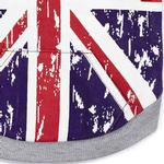 View Image 3 of Zack and Zoey Distressed-Look British Flag Dog Hoodie