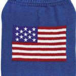 View Image 2 of Zack and Zoey Elements American Flag Dog Sweater - Blue