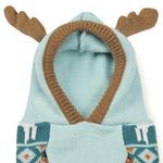 View Image 4 of Zack and Zoey Elements Antler Dog Sweater - Teal