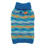 View Image 1 of Zack and Zoey Elements Chunky Pom-Pom Dog Sweater - Blue