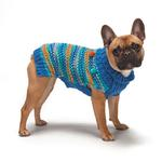 View Image 4 of Zack and Zoey Elements Chunky Pom-Pom Dog Sweater - Blue