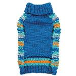 View Image 2 of Zack and Zoey Elements Chunky Pom-Pom Dog Sweater - Blue