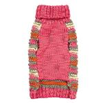View Image 2 of Zack and Zoey Elements Chunky Pom-Pom Dog Sweater - Pink