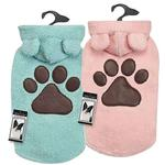 View Image 5 of Zack and Zoey Elements Cuddle Bear Dog Jacket - Pink
