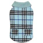 View Image 1 of Zack and Zoey Elements Cuddle Plaid Dog Coat - Blue