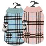 View Image 4 of Zack and Zoey Elements Cuddle Plaid Dog Coat - Blue